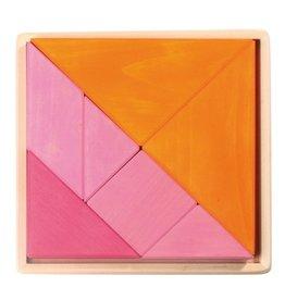 Grimm's Tangram Set, Orange-Pink 7 Pcs.