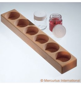 Mercurius Paint jar wooden holder 6 holes -100ml