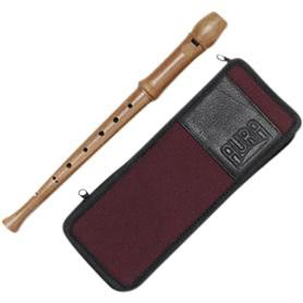 Aura recorder baroque setting unlacquered - GR 4 narrow blue case