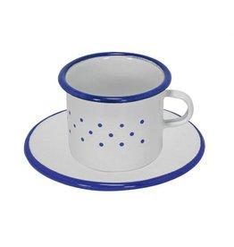Gluckskafer Enamel Cup & Saucer 6cm