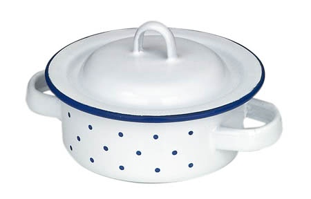 Gluckskafer Enamel Pot low 10cm