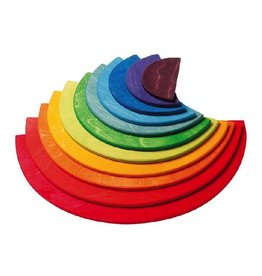 Grimm's Large Semicircles, rainbow (11 pcs)