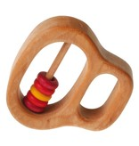 Grimm's Rattle With 5 Small Discs, Red