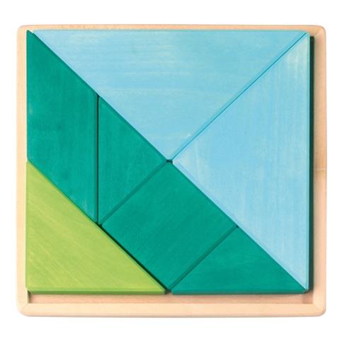 Grimm's Tangram Set, Blue-Green 7 Pcs.