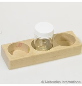 Mercurius Wooden holder for 3 glass paint jars 50ml