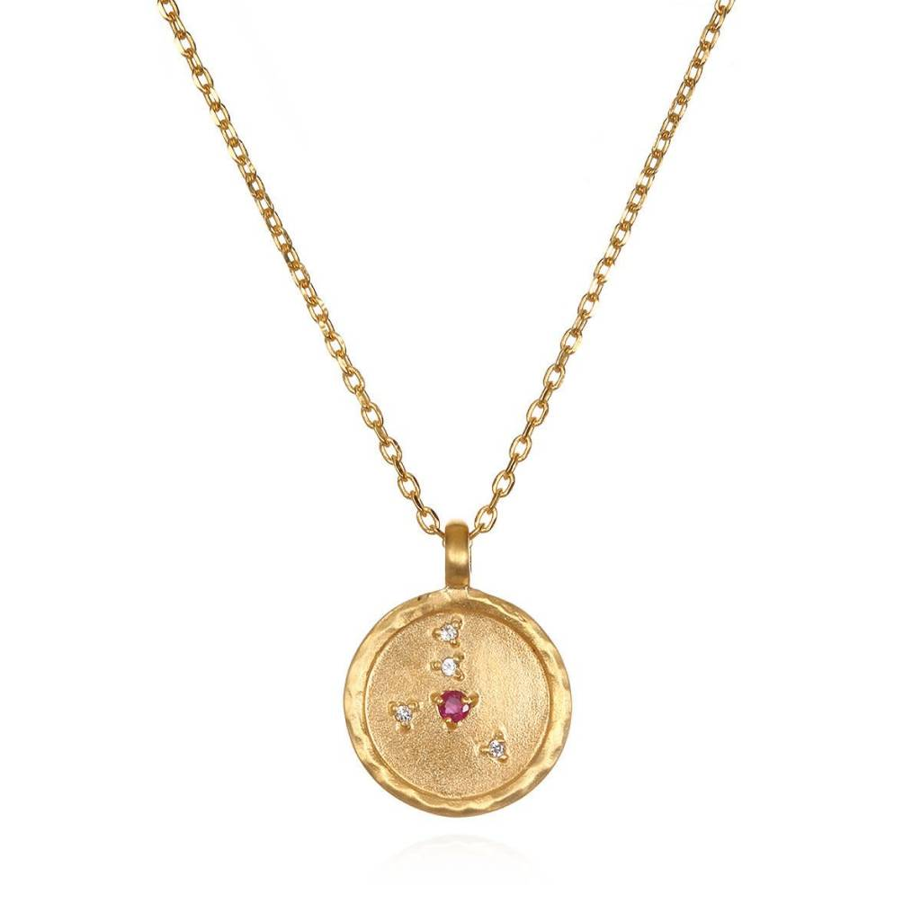 astley gold aubar london solid rose uk clarke ruby necklace