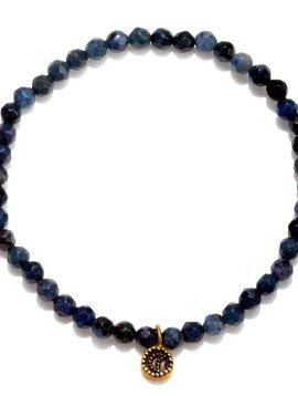 Satya Dumortierite Moon Stretch Bracelet