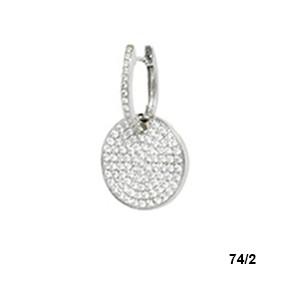 Elite Designs 18k Diamond Earrings 1 2 Carat Total Weight