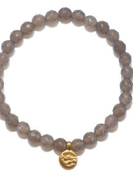 Satya Gray Agate Cherry Blossom Bracelet