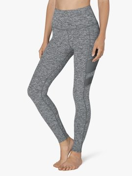 Beyond Yoga High Waist Stripped Mesh Long Legging
