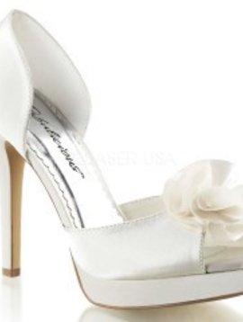 Ivory Heel W/ Satin Floral