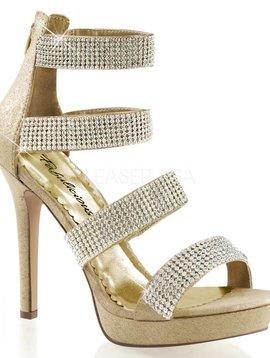 Pleaser Gold Rhinestone Sandal