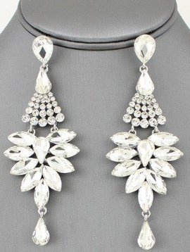 Shourouk Earrings Clear-Silver