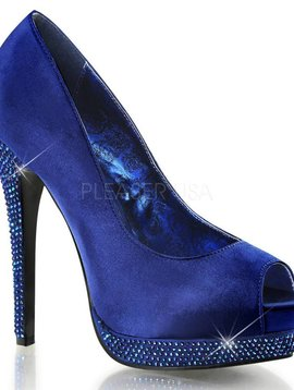Royal Blue Rhinestone Pump