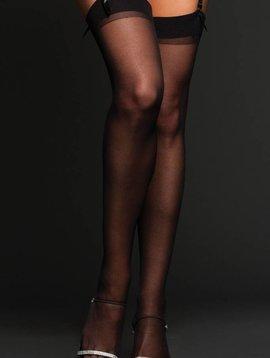 Sheer Thigh Highs Black