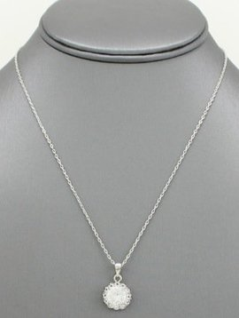 Halo Pendant Necklace Clear