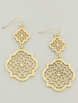 Patina Filigree Earrings