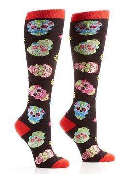 Psychedelic Skull Socks