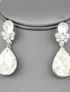 Teardrop Rhinestone Earrings