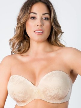 Curvy Couture Strapless Multi-Way Nude