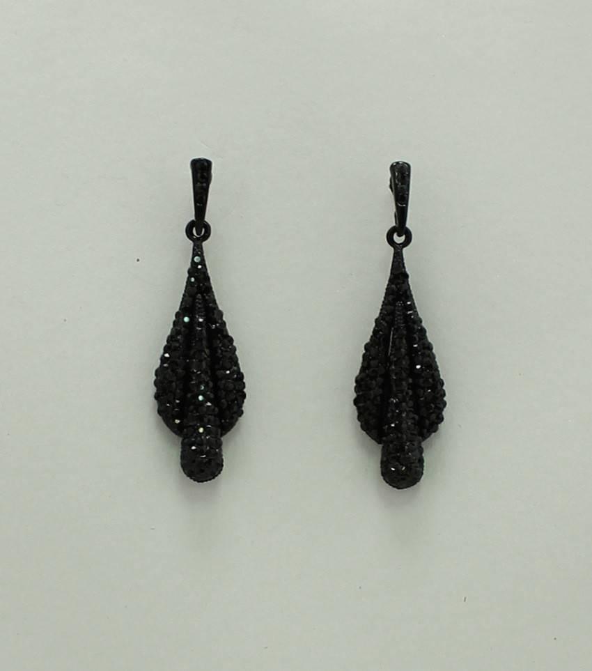 Pave Rhinestone Earrings