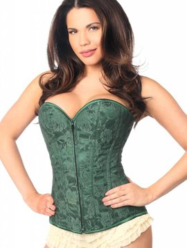 Green Lace Corset