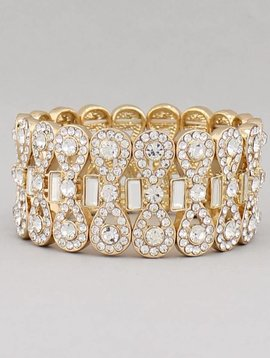 Red Carpet Rhinestone Bracelet