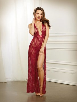 Dreamgirl RED LACE ROBE