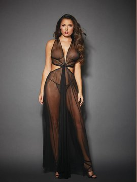 Dreamgirl Black Mesh Gown