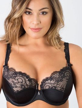 Curvy Couture TULIP LACE PUSH UP