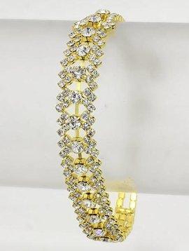 Jagged Rhinestone Bracelet