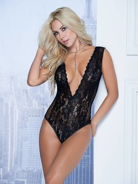 Mapale Plunging Lace Teddy