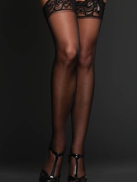 iCollection Lace Top Thigh Highs