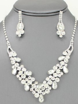 Gemstone Evening Necklace Set