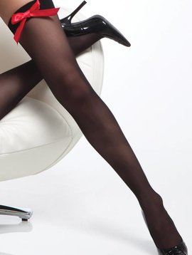 Coquette BLACK THIGH HIGH WITH RED BOW