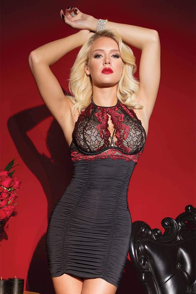 abd6bc5df RED ROMANCE CHEMISE - ANGIE DAVIS  Sexy lingerie