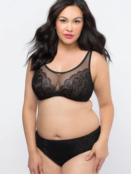 Curvy Couture LUMINOUS LACE BRALETTE