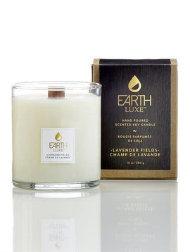Earth Luxe SOY WOOD-WICK SCENTED CANDLE, LAVENDER FIELDS