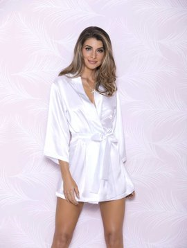 iCollection WHITE SATIN BRIDE ROBE