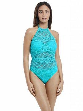 Freya Sundance Underwire High Neck Cutout Swimsuit