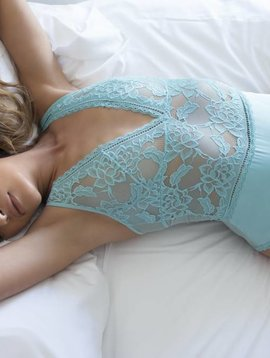 Oh La La Cheri VERONICA SATIN AND LACE TEDDY