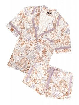 Cosabella BELLA PRINTED SHORT SLEEVE TOP & BOXER SET