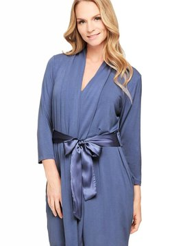 Montelle Serenity Inset Back Luxurious Robe With Silk Ties By Fleur't