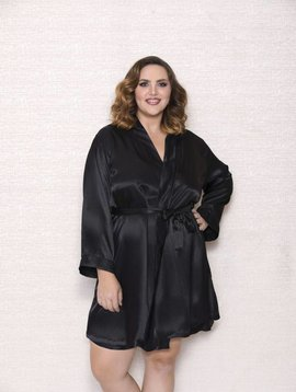 14ba54f377f MARILYN EMBROIDERED BABYDOLL SET.  59.50. PLUS SIZE BLACK SATIN ROBE