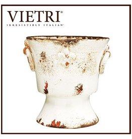 Vietri White Giglio Pedestal Planter RGA-8924 Italian Garden Decor