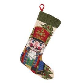Peking Handicraft Christmas Stocking Nutcracker in Blue Hook Stocking by Peking Handicraft