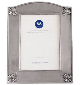Royal Selangor Pewter 4x6 Photo Picture Frame w Clovers