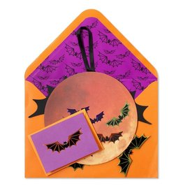 Papyrus Greetings Halloween Card Harvest Moon w Bats Decorative Mobile by Papyrus