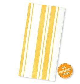 MUkitchen Cotton Stripe Basket Weave Dish Towels 1Pk 6617-1513 Lemon
