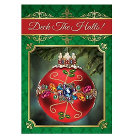 Mark Roberts Christmas Decorations Christmas Cards Boxed Crystal Jewel Floral Cards